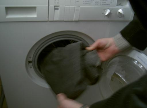 och det blir i tvättmaskinen Klart för denna gången